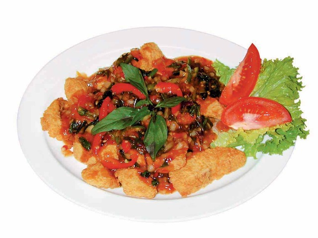 Spicy Fish Filet at Bebes Cafe
