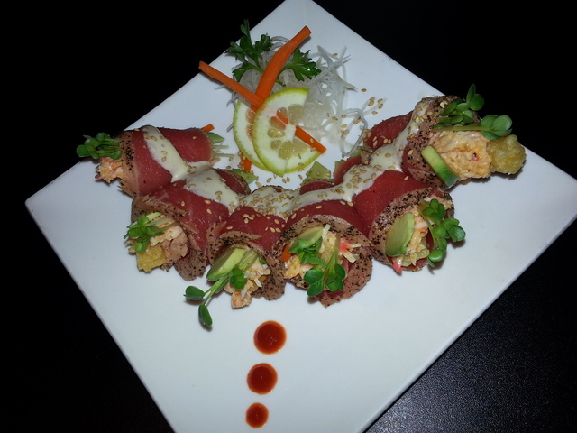 The Ryan Wrap at Sushi Kawa Sports Bar and Grill