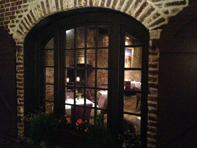 Peering Into the Main Dining Room From A Picture Window - Exterior at McCrady's