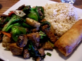 Plenty of vegetables and tofu cooked correctly - a tasty dish! - Basil Vegetables with Tofu at Szechuan Chinese Restaurant