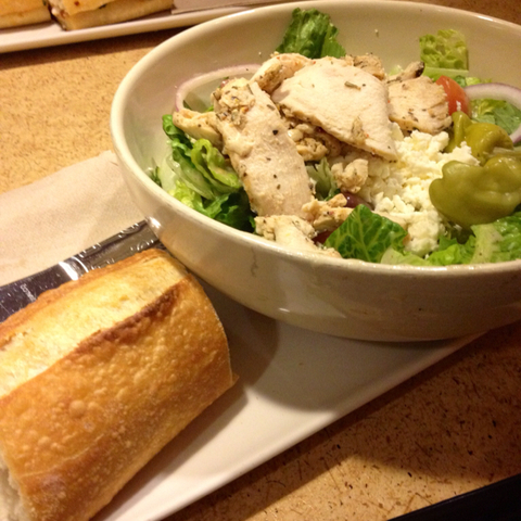 64. Greek Salad with Chicken at Panera Bread