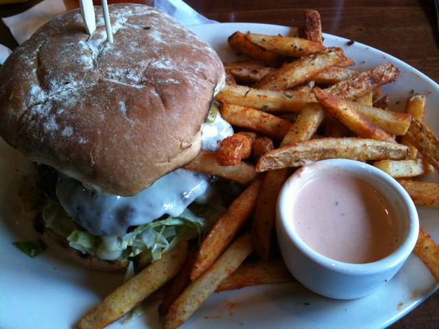 Baja California Burger at Lazy Dog Cafe