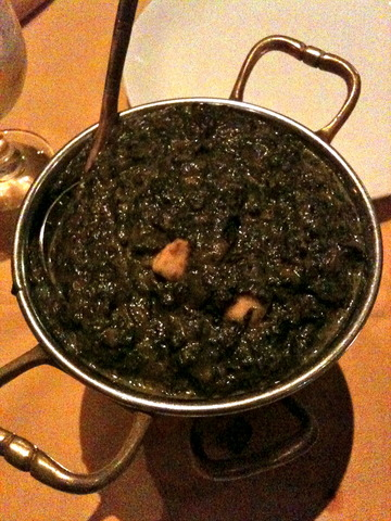Saag Paneer at Nawab of India