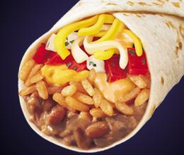 Photo of 1/2 LB. CHEESY BEAN & RICE BURRITO