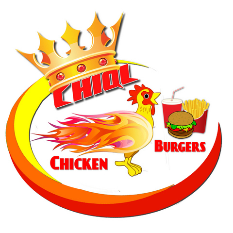 Logo at CHIQL Chicken & Burgers
