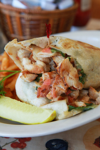 Monterey Ranch Chicken Wrap at Peach's Restaurant