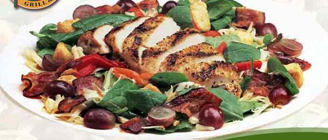 Grilled Chicken & Spinach Salad at Ground Round Grill & Bar
