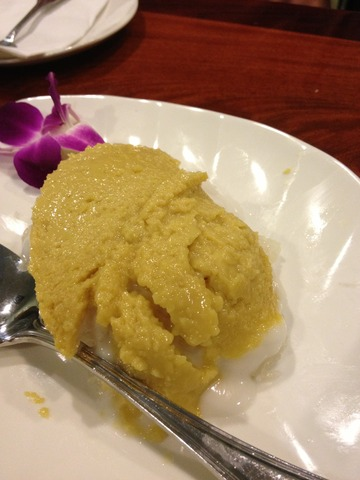 Photo of Custard and sticky rice