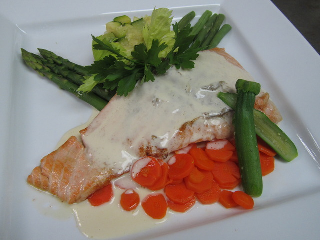 Fresh Salmon with Lemon Sauce at Cote Gourmet