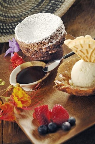 Chocolate souffle at Tonto Bar & Grill