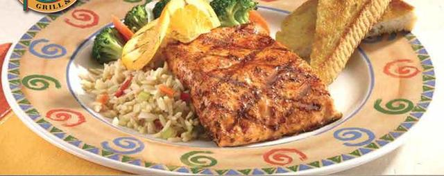 Orange Grilled Salmon at Ground Round Grill & Bar