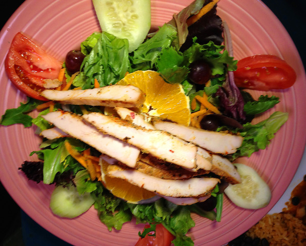 Fresh Salad with Grilled Chicken at Lista's Grill