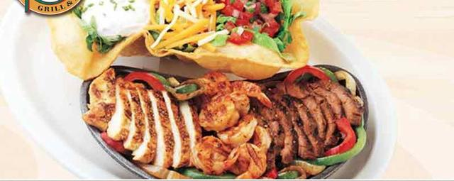 Triple Fajitas at Ground Round Grill & Bar