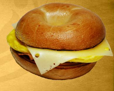 Ham & Swiss at Einstein Bros. Bagels