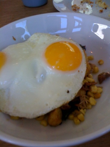 Duck Hash at Huckleberry Cafe & Bakery