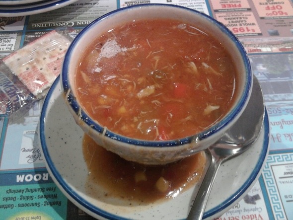 Maryland Crab soup at Silver Moon Diner