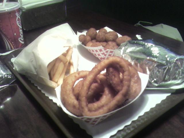 Fried Mushrooms at Wibbley's Gourmet Hamburgers