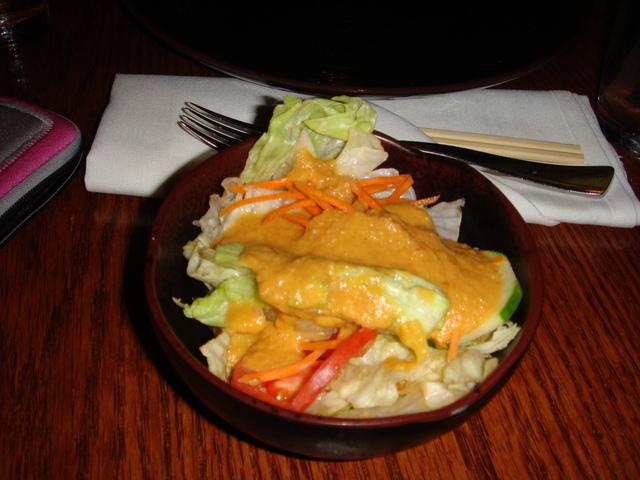 Salad at Ten East Hibachi and Sake Lounge