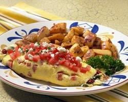 Tuscan Vegetable Omelete at Mimi's Cafe