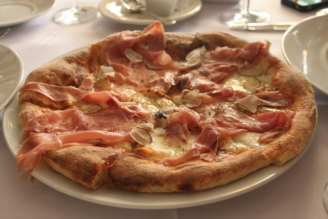 Prosciutto Pizza at La Focacceria