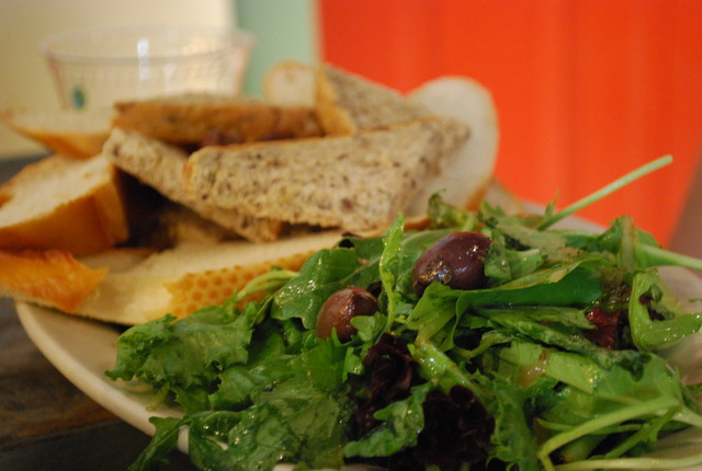 mostly bread and salad - Hummus platter at Carma's Cafe