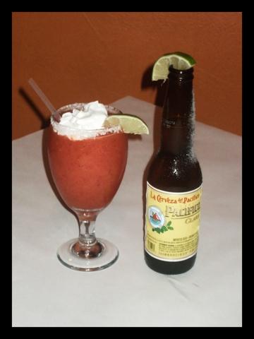 Strawberry Daiquiri at Ajuua Mexico Fare Latin Flair