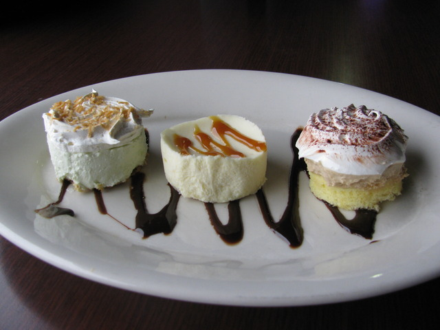 $3.99 price is for individual portions - Key Lime Pie, Cheesecake, Tiramisu at Chicago Blu Grill and Bar