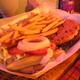 Double patties and seasoned fries - Veggie Burger at Tropical Isle