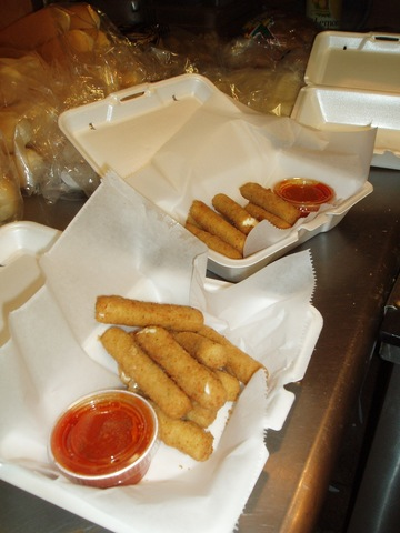 Mozzarella Sticks at Zesto's Pizza & Grille