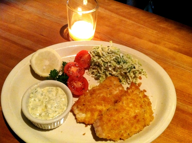 Crispy Panko Pan-Fried Fish of the Day with Coleslaw and Dill Tartar Sauce - Pan Fried Fish at Houston's
