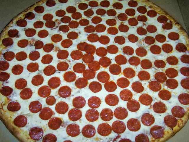 "Photo of 24"" pepperoni pizza"
