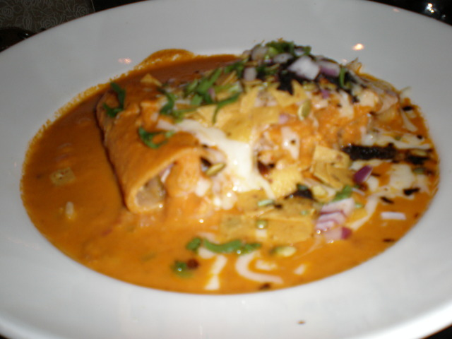 Crab & Shrimp Enchiladas Suizas at Maria Maria