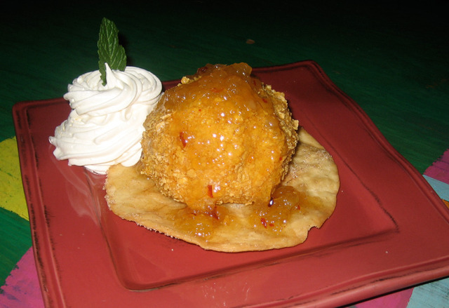 Fried Ice Cream at Lista's Grill
