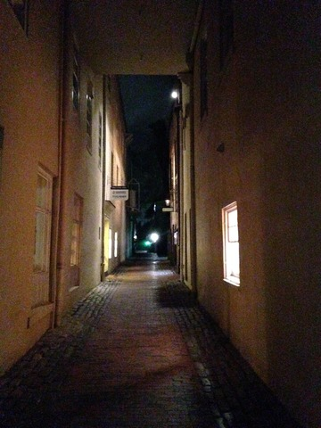 Quiet Cobblestone Alley Leads to McCrady's Secluded Entrance - Exterior at McCrady's