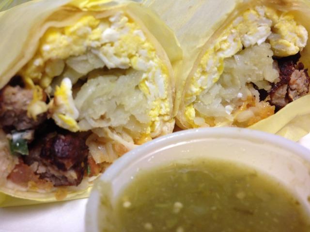 SauSage and Eggg Burrito - SauSage and Eggg Burrito at G & K Burgers