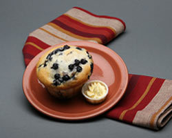 Low Fat Blueberry Muffin at Mimi's Cafe