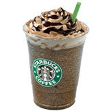 Mint Mocha Chip Frappuccino® blended coffee at Starbucks Coffee