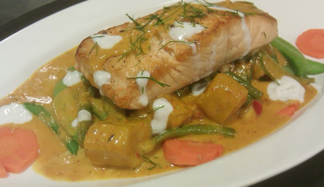 Photo of Panang Curry with Salmon