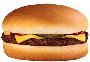 Hamburger with Cheese at Jack in the Box