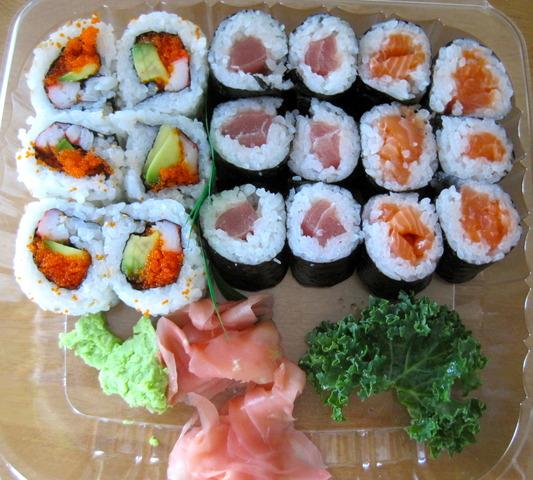 california, tuna, and salmon rolls - Roll Combo at Sushi Zen Japanese Restaurant