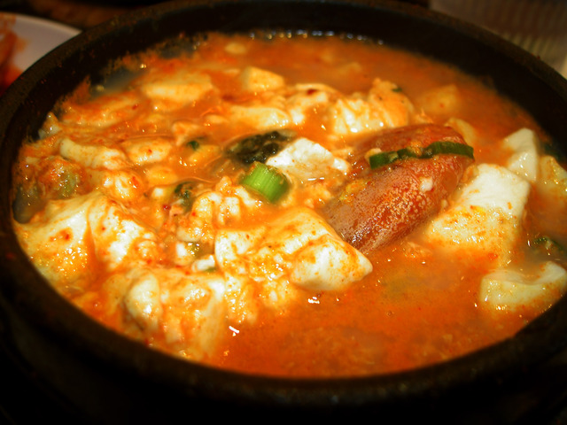 Original Premium Tofu Soup with Seafood at BCD Tofu House