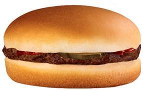 Hamburger at Jack in the Box