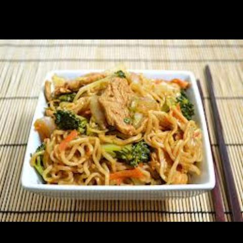 Chicken yabisoba noodles at Ichiban