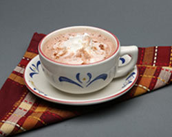 Hot Chocolate & Whipped Cream at Mimi's Cafe
