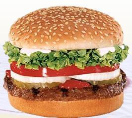 WHOPPER JR.® at Taxi's Hamburgers
