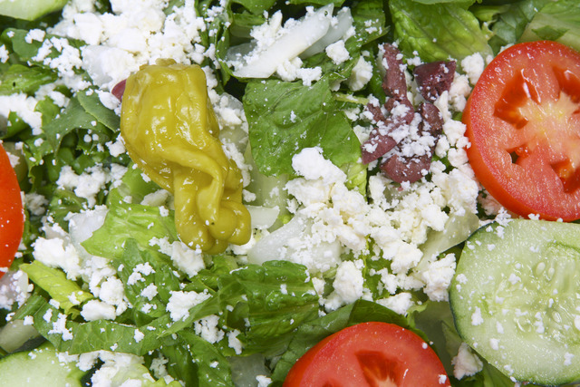 Greek Salad at Napoli Flying Pizza