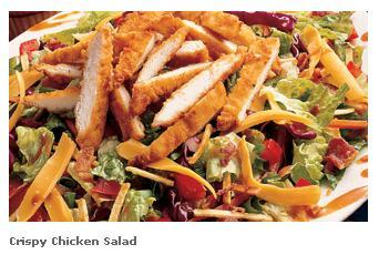 Crispy Chicken Salad at Famous Dave's