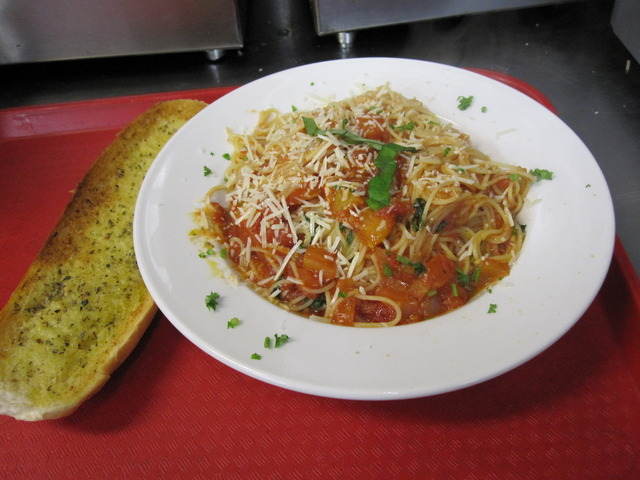 Angel Hair Al Checca at Perry's Pizza & Italian Restaurant
