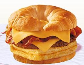 DOUBLE CROISSAN'WICH™ at Taxi's Hamburgers
