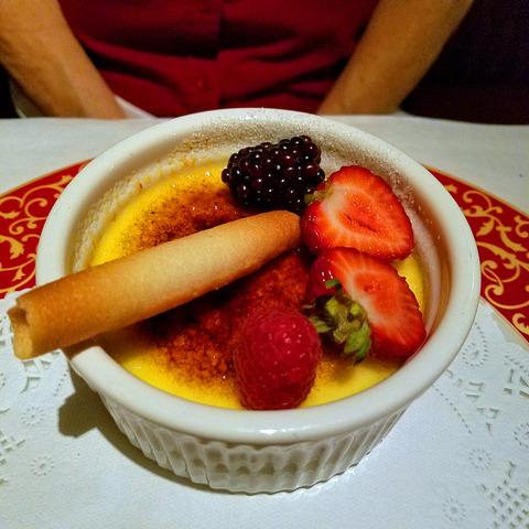 Orange Creme Brulee at Sesame Grill